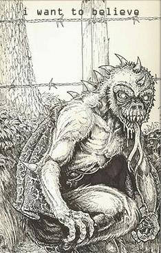 Рисунок чупакабры