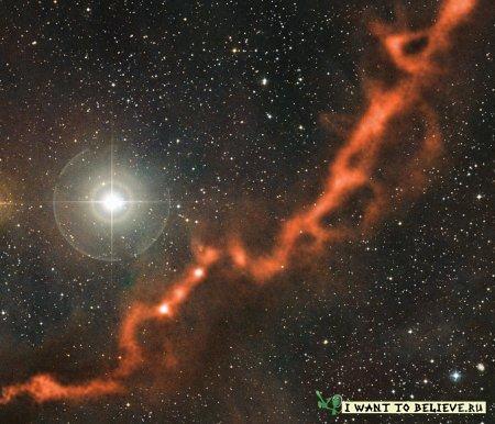 Тайны области звездообразования были раскрыты телескопом APEX